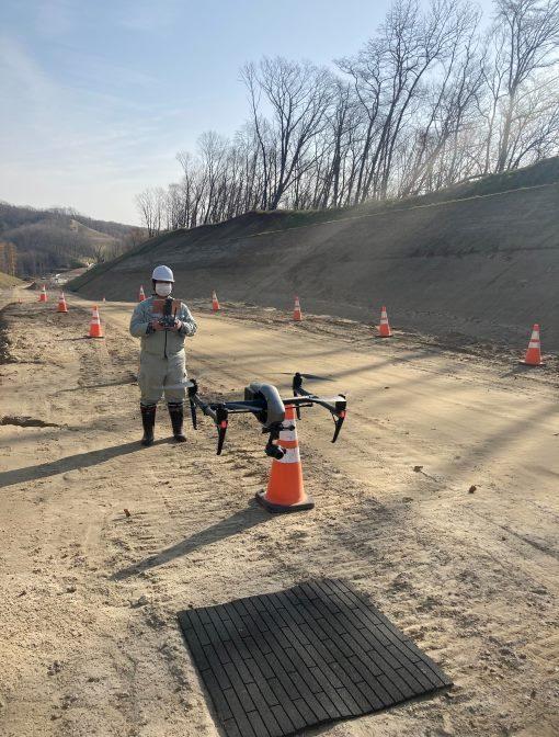 UAVでの3次元計測(3D・ドローン)土木支援